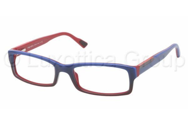 Prada Suport PS 10AV JAR1O1 BLUE GRADIENT RED