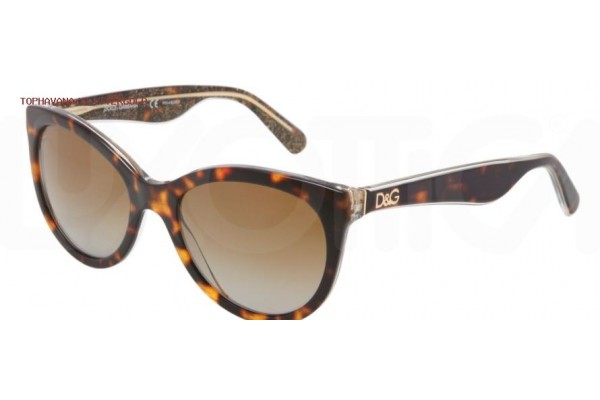 Dolce & Gabbana LIP GLOSS 0DG4192 2738T5 TOP HAVANA/GLITTER GOLD POLARIZED
