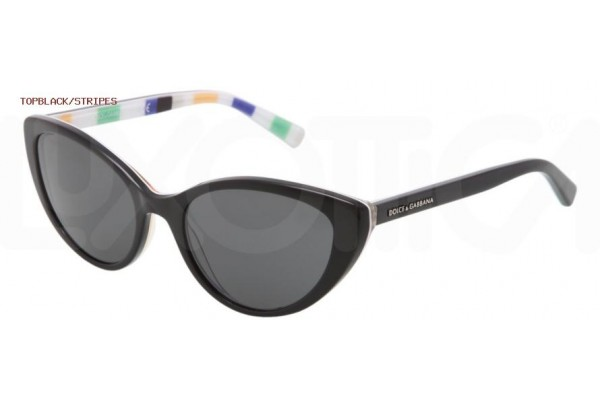 Dolce & Gabbana STRIPES 0DG4202 271787 TOP BLACK/STRIPES