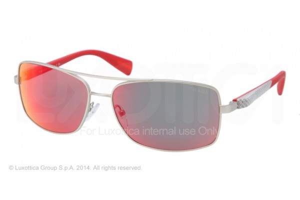Prada Linea Rossa NETEX COLLECTION 0PS 50OS 1AP6Y1 SILVER DEMI SHINY
