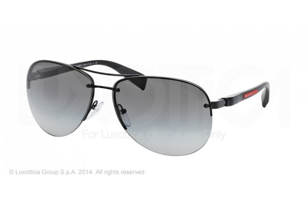 Prada Linea Rossa PS 56MS (65) 0PS 56MS 1BO3M1 DEMI-SHINY BLACK