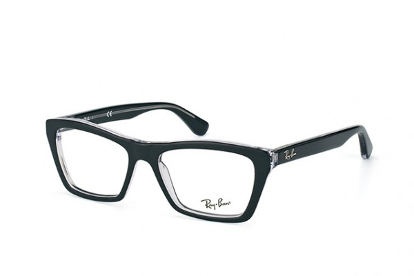 Ray-Ban 0RX5316 2034 TOP BLACK ON TRANSPARENT