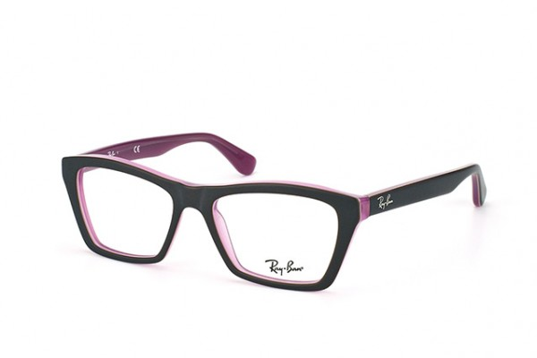 Ray-Ban 0RX5316 5386 TOP MATTE BROWN ON OPAL PINK