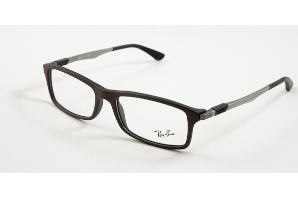Ray-Ban 0RX7017 5258 TOP BROWN ON BLACK