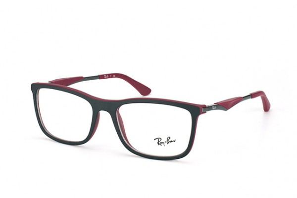 Ray-Ban 0RX7029 5259 TOP BLACK ON MATTE BORDEAUX
