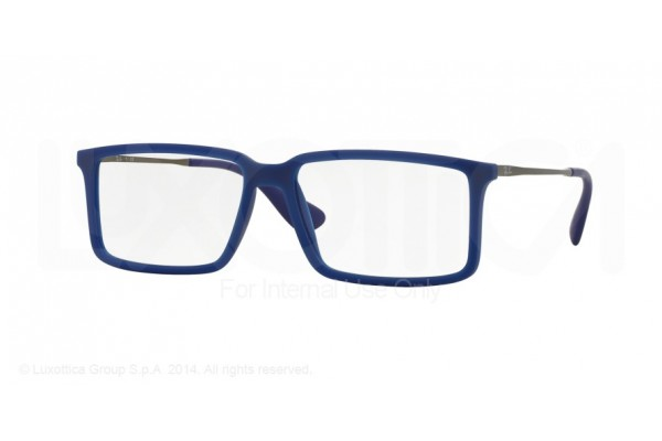 Ray-Ban 0RX7043 5467 RUBBER DEMI GLOSS BLUE
