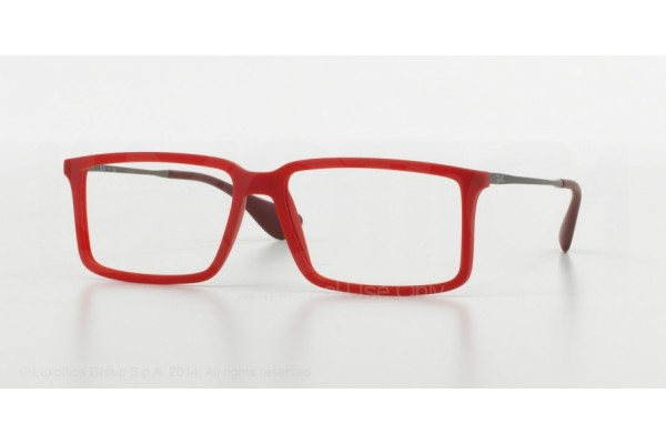 Ray-Ban 0RX7043 5468 RUBBER DEMI GLOSS RED