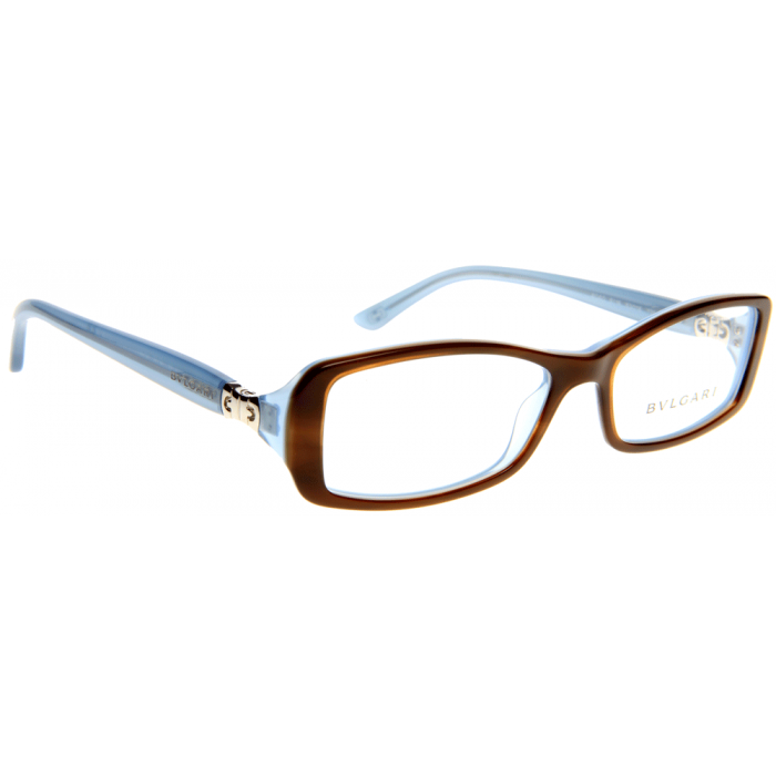 Bvlgari Sunglasses Frames Dubai : BVLGARI Glasses BV4040 Havana frame and blue arms