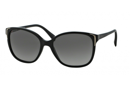 Prada  0PR 01OS Sunglasses 1AB3M1 Black/Grey Gradient Lenses