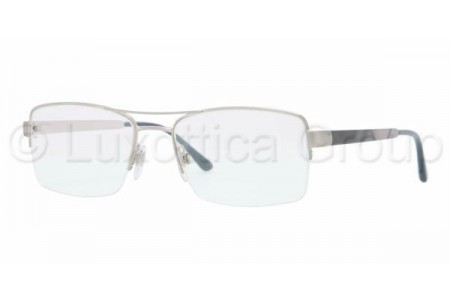 Bubberry BE1240 1166 BRUSHED SILVER DEMO LENS