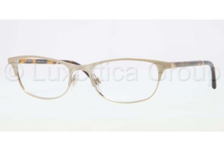 Bubberry BE1249 1167 BRUSHED BURBERRY GOLD DEMO LENS
