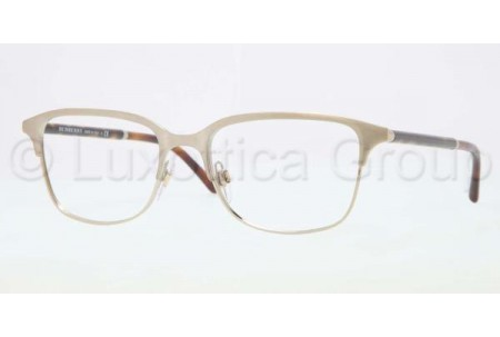 Bubberry BE1250 1167 BRUSHED BURBERRY GOLD DEMO LENS