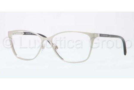 Bubberry BE1255 1166 BRUSHED SILVER DEMO LENS