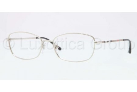 Bubberry BE1256 1166 BRUSHED SILVER DEMO LENS