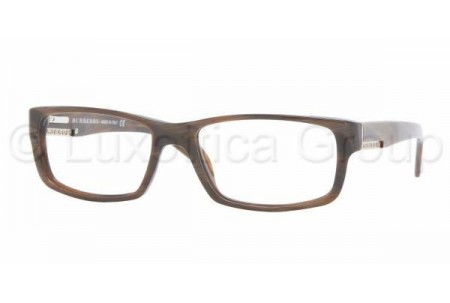 Bubberry BE2041 3022 BROWN HORN STRIPED DEMO LENS