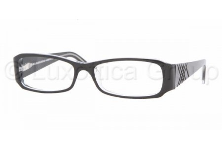 Bubberry BE2043 3029 BLACK TOP ON CLEAR DEMO LENS