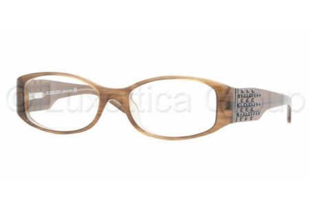 Bubberry BE2046B 3083 BROWN STRIPED ON BEIGE DEMO LENS
