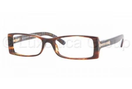 Bubberry BE2055 3133 BROWN STRIPED HAVANA DEMO LENS