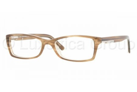 Bubberry BE2076 3083 BROWN STRIPED ON BEIGE DEMO LENS