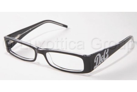 D&G DD1127 675 BLACK TOP ON CLEAR DEMO LENS