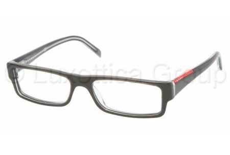 Prada Suport PS 01AV ZXX1O1 BLACK/TRANSPARENT GRAY