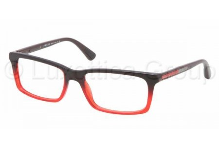 Prada Suport PS 02CV JAV1O1 STRIPED RED