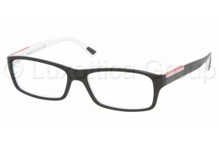 Prada Suport PS 11AV AAD1O1 TOP BLACK/IVORY
