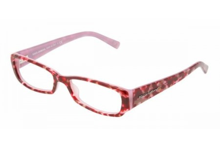 Dolce & Gabbana ANIMALIER 0DG3085 1571 SMALL CUBE BORDEAUX ON PINK