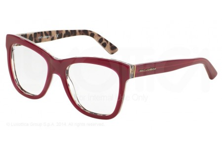 Dolce & Gabbana ENCHANTED BEAUTIES 0DG3212 2882 TOP OPAL BORDEAUX/LEO