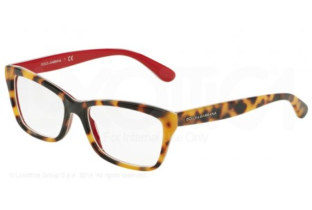 Dolce & Gabbana CONTEMPORARY 0DG3215 2893 TOP HAVANA ON RED