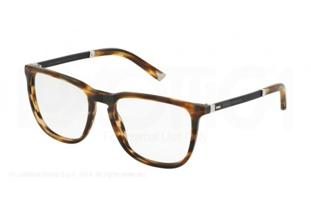 Dolce & Gabbana BASALTO COLLECTION 0DG3216 2673 MATTE STRIPED BROWN