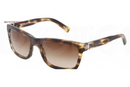 Dolce & Gabbana SICILIAN HINGE 0DG4161 267213 MATTE STRIPED BROWN