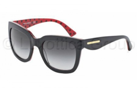 Dolce & Gabbana GOLD LEAF 0DG4197 28718G BLACK/POIS BLACK/RED