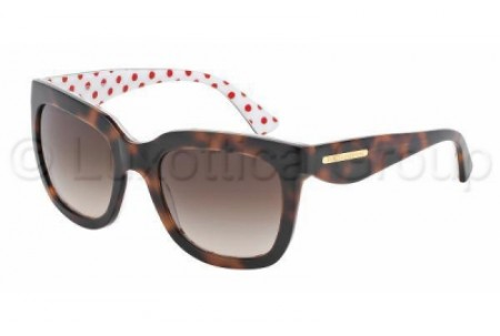 Dolce & Gabbana GOLD LEAF 0DG4197 287213 HAVANA/POIS RED/WHITE