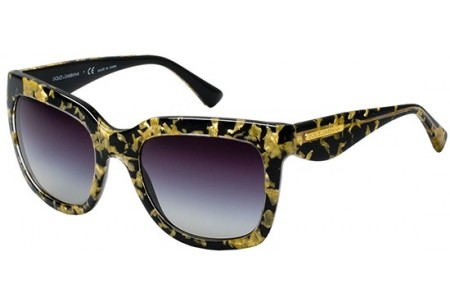 Dolce & Gabbana GOLD LEAF 0DG4197 27458G LEAF GOLD ON BLACK