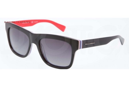 Dolce & Gabbana MULTICOLOR 0DG4203 2764T3 BLACK/MULTILAYER/RED POLARIZED