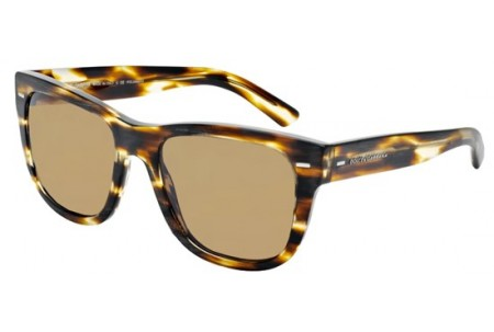 Dolce & Gabbana NEW BOND STREET 0DG4223 282683 BRUSHED STRIPED HAVANA POLARIZED