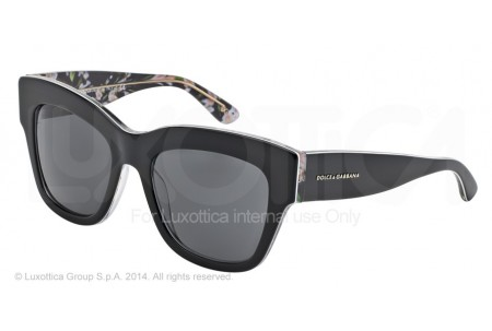 Dolce & Gabbana ALMOND FLOWERS 0DG4231 284087 BLACK/BLACK PEACH FLOWERS