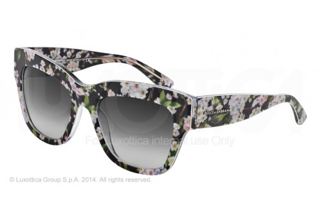 Dolce & Gabbana ALMOND FLOWERS 0DG4231 28428G BLACK PEACH FLOWERS