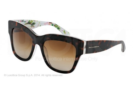 Dolce & Gabbana ALMOND FLOWERS 0DG4231 2841T5 HAVANA/AQUA PEACH FLOWERS POLARIZED