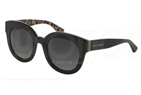 Dolce & Gabbana ENCHANTED BEAUTIES 0DG4235 2857T3 TOP BLACK/LEO POLARIZED