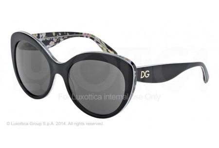 Dolce & Gabbana ALMOND FLOWERS 0DG4236 284087 BLACK/BLACK PEACH FLOWERS