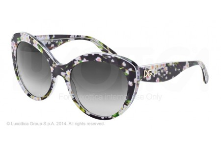 Dolce & Gabbana ALMOND FLOWERS 0DG4236 28428G BLACK PEACH FLOWERS