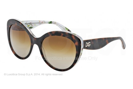Dolce & Gabbana ALMOND FLOWERS 0DG4236 2841T5 HAVANA/AQUA PEACH FLOWERS POLARIZED