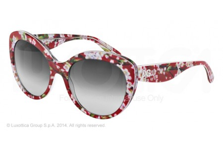 Dolce & Gabbana ALMOND FLOWERS 0DG4236 28458G RED PEACH FLOWERS