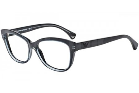 Emporio Armani 0EA3032 5220 TRANSPARENT GREY ON BLACK