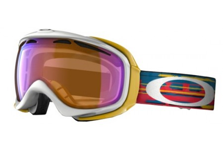 Oakley ELEVATE SNOW GOGGLE 0OO7023 59-554 RIPPED N TORN WHITE