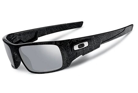 Oakley CRANKSHAFT 0OO9239 923908 BLACK SILVER HISTORY TEXT POLARIZED