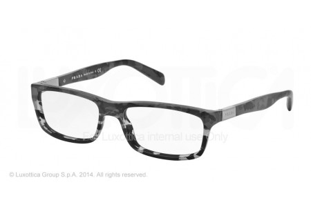 Prada  0PR 02OV RON1O1 MIMETIC BLACK/MT GREY TRANSP