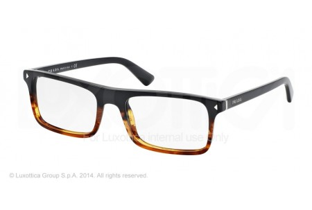 Prada JOURNAL 0PR 02RV TFJ1O1 BLACK/STRIPED HAVANA
